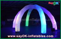 Chine Voûte gonflable d'arcade de lumière du diamètre 5m LED avec le tissu en nylon multicolore de 6 jambes usine