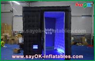Chine Le poids léger cabine gonflable noire de photo de 18 kilogrammes enferment le cube avec l'éclairage mené usine