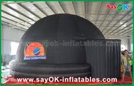 Chine tente gonflable noire d'écran de projection de dôme de planétarium de 6m avec la copie de logo usine