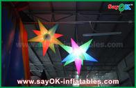 Chine Étoile d'éclairage menée par décoration gonflable d'éclairage de tissu de Colorized Oxford pour la partie usine