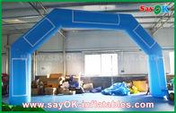 Chine Ligne d'arrivée gonflable adaptée aux besoins du client de voûte de Velcro d'événement gonflable bleu d'impression usine