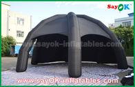 Chine Tente gonflable noire d'air de PVC/tente d'araignée dôme de la publicité avec le ventilateur usine