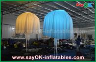 Chine Tissu en nylon de club de barre d'éclairage de méduses gonflables blanches de décoration pour la partie usine