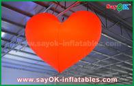 Chine décorations gonflables extérieures de allumage menées romantiques de coeur rouge de 1.5m pour épouser usine