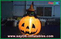 Chine Chat gonflable durable de potiron de décorations de vacances de Halloween avec l'éclairage mené usine