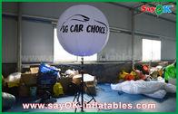 Chine ballon debout de fer de 1.5m de trépied léger gonflable blanc de décoration avec la copie usine