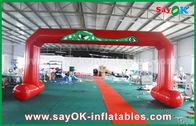 Chine La ligne d'arrivée imprimée par PVC rouge de début arque la double voûte gonflable de couture d'entrée usine
