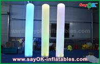 Chine forme gonflable de pilier de décoration d'éclairage de tissu en nylon grand de 3m pour la publicité usine