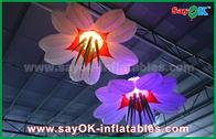 Chine La LED accrochent le tissu en nylon de décoration gonflable d'éclairage de fleur pour annoncer/événement usine