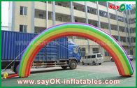 Chine voûte d'entrée de 7mL x de 4mH/tissu gonflables géants d'Oxford voûte d'arc-en-ciel pour l'événement usine