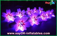 Chine décoration légère gonflable en nylon moulue blanche de chaîne de fleur du tissu LED de 5m longue usine