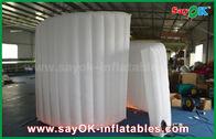 Chine mur en spirale blanc gonflable de tissu de 210D Oxford pour la tente de cabine de photo garantie de 1 an usine