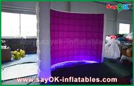 Chine La cabine gonflable de photo de mur du kiosque LED, partie a mené le matériel de tissu de Photobooth Oxford usine