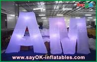 Chine lettres anglaises adaptées aux besoins du client par décoration d'éclairage du nylon LED de 2m pour l'événement usine