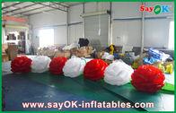 Chine Fleur gonflable rouge/blanche de tissu en nylon d'éclairage de décoration avec la lumière de LED pour l'événement usine
