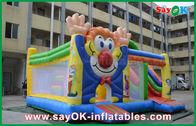 Chine château heureux sautant de videur de sortes de rebond gonflable de clown de PVC de 0.55mm pour des enfants usine