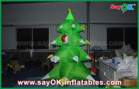 Chine Arbre de Noël gonflable en nylon vert LED allumant le nylon de 2.5mm pour Noël usine