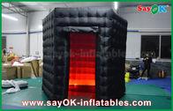 Chine cabine noire gonflable de photo d'octogone de 2.5m avec le tissu d'Oxford de lumière de LED usine