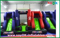 Chine Grand le château gonflable bleu et rouge de glisseur de videur badine des jouets de Palying pour des enfants usine