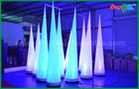 Chine 2.5m / 3mH a mené allumer la décoration gonflable d'éclairage en forme de cône pour l'événement/publicité usine