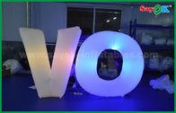 Chine Décoration gonflable en nylon d'éclairage de Lingting, lettres gonflables avec le ventilateur et contrôleur à distance usine