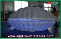 Chine Décoration gonflable d'éclairage de tissu en nylon blanc LED Shell pour la publicité usine