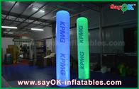 Chine La publicité de la taille de 2.5m allumant la colonne gonflable de pilier avec l'impression de logo usine