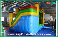 Chine Enfants Chambre gonflable commerciale bleu/jaune de rebond avec diapositive 3 ans de garantie usine