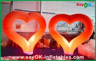 Chine Forme gonflable en nylon rouge romantique de coeur de décoration d'éclairage pour épouser usine