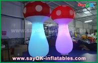 Chine 2.5mh champignon gonflable de lumière 190T du tissu en nylon blanc LED pour la décoration usine