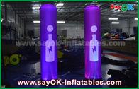 Chine Décoration gonflable rose d'éclairage/colonne gonflable avec l'impression de logo usine
