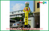 Chine Cuiseur gonflable jaune de danseur d'air pour annoncer, danseur gonflable de ciel usine
