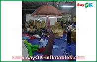 Chine Champignon gonflable vif de Brown avec la décoration d'intérieur de lumière de LED en démonstration usine