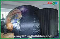 Chine Tente gonflable commerciale de dôme de noir gonflable mobile à la maison de planétarium usine