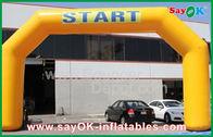 Chine Voûte gonflable de la publicité bon marché jaune extérieure pour la promotion usine