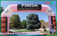 Chine Voûte gonflable de finition gonflable rose de couleur avec l'impression de logo usine