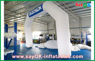 Chine Voûte gonflable bleue/blanche de l'Italie 6mL x 4mH avec le tissu d'Oxford et le revêtement de PVC usine