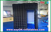 Chine cabine gonflable noire de photo de 2.4m, cabine gonflable légère d'image de LED usine