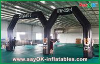 Chine Ligne d'arrivée gonflable adaptée aux besoins du client de début de Pring de logo avec la double voûte usine