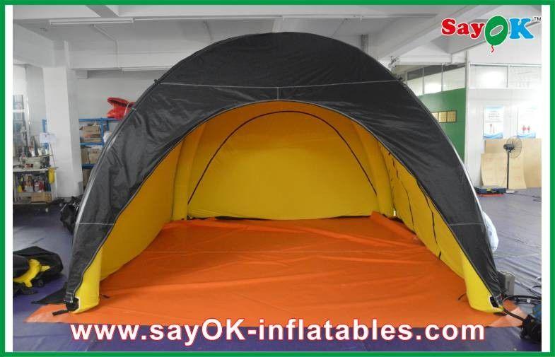 int rieur gonflable durable de jaune d 39 ext rieur de noir de tente de camping adapt aux besoins. Black Bedroom Furniture Sets. Home Design Ideas