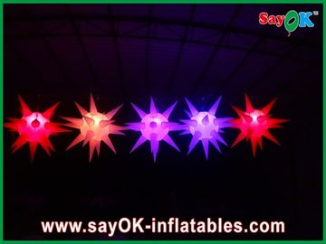 La décoration souple d'étape a mené allumer l'étoile gonflable pour l'événement, rouge/bleu