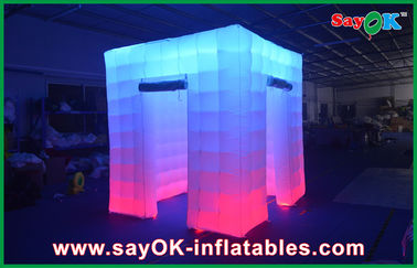 grande cabine menée gonflable de photo de 2.4x2.4x2.5m épousant les cabines gonflables