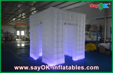 Portable gonflable de tente de cube de photo de cabine en clôture gonflable blanche faite sur commande de Shell