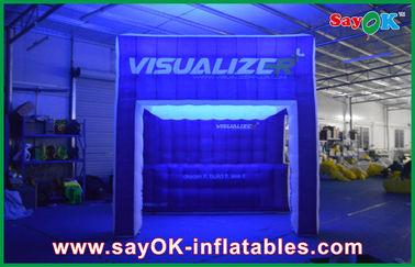 Arc-en-ciel allumant la tente de camping gonflable d'air d'exposition gonflable de tente