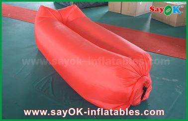 Matériel en nylon facilement ouvrable menteur de sac de plage de sommeil de camping gonflable d'airbag