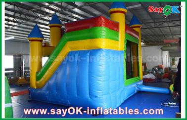 Enfants Chambre gonflable commerciale bleu/jaune de rebond avec diapositive 3 ans de garantie