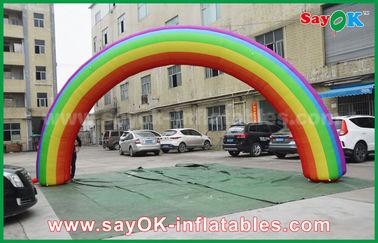 Beautiflu et tissu durable d'Oxford ou voûte gonflable d'arc-en-ciel de PVC avec le ventilateur de la CE/UL
