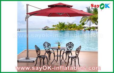 Parapluie de plage extérieur se pliant résistant UV de Sun, parasol chinois de jardin