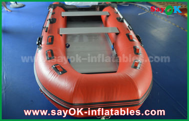 Bateaux gonflables de PVC de bâche durable avec le plancher et les palettes en aluminium