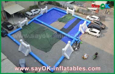 Terrain de jeu gonflable du football de bâche durable, terrain de football gonflable portatif